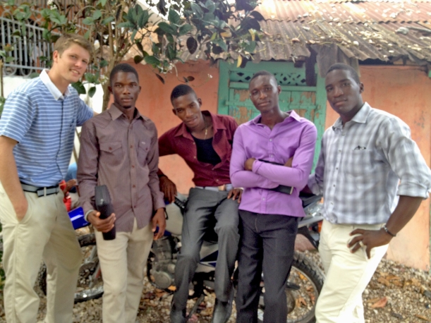 Some more of the guys on Sunday before church!