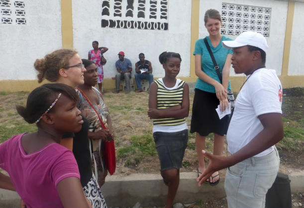 Here are missionaries from three different countries reaching out to this lost man!