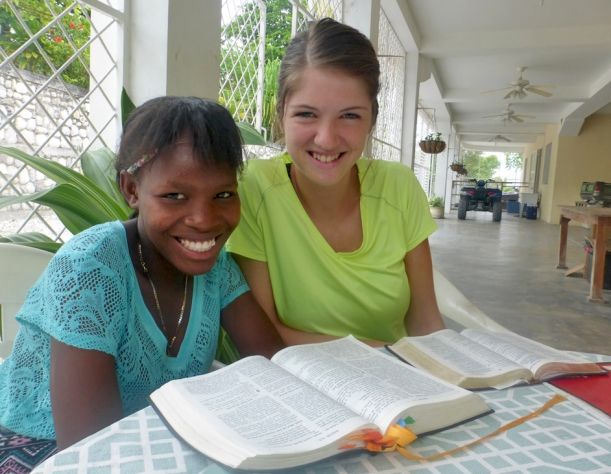 Trinity continues to do a lot of mentoring and Bible studies with Ricardine.