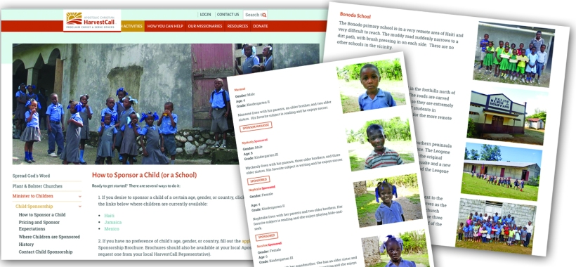 The HarvestCall Child Sponsorship website now allows you to personally select children or schools!