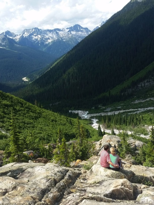 """A """"little climb"""" brought a great view of Glacier National Park in Canada!"""