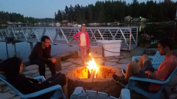 Kayaking trips and campfires on the evening were a break from travel!