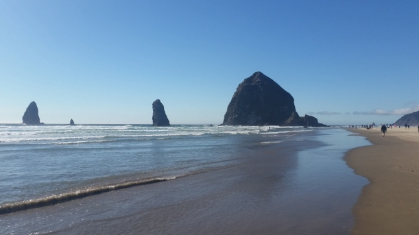 We took several beach walks, this was Cannon Beach!