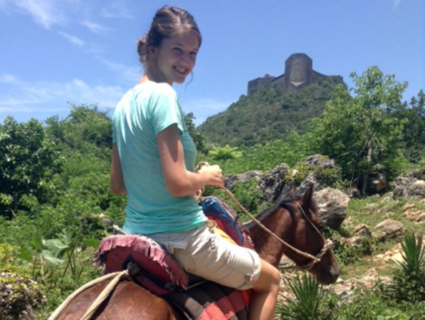 This was just as fun as touring the fort! (You can see it in the background.)