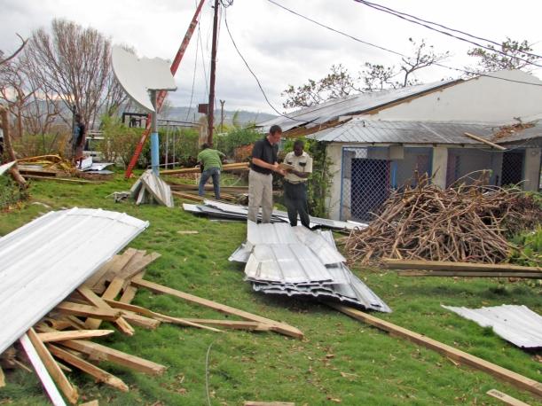 A post-hurricane yard sale!