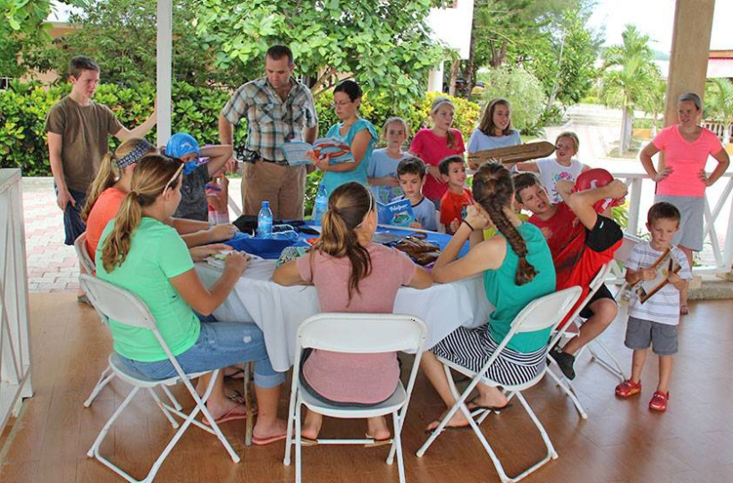 Eric & Jami Hartzler came down to lead a Bible school for the kids!