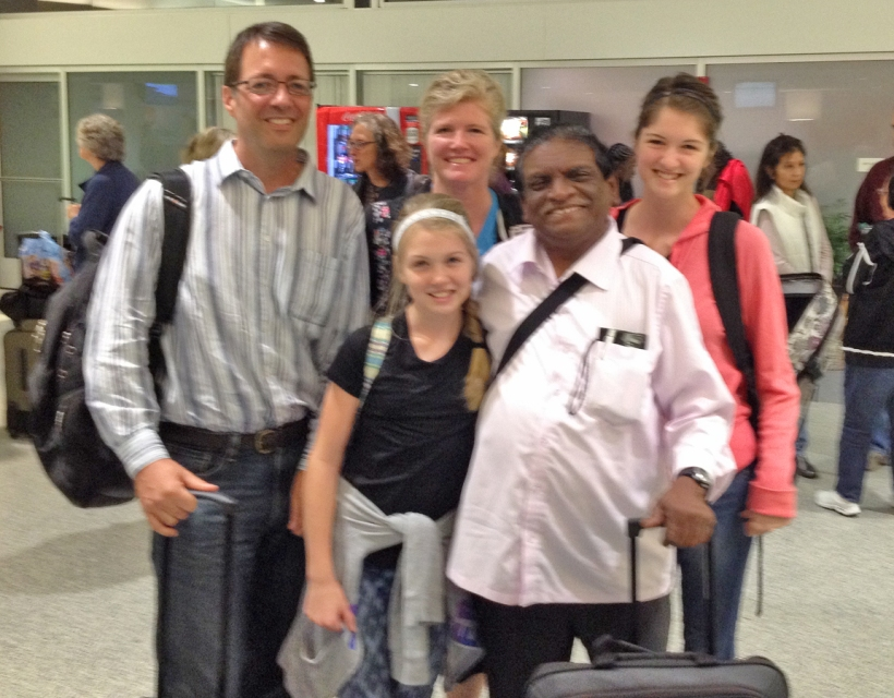 The missionary from India that Susie met on the plane!