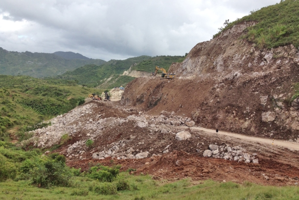 Crossing the country in any directions means crossing the mountains! Landslides are common!