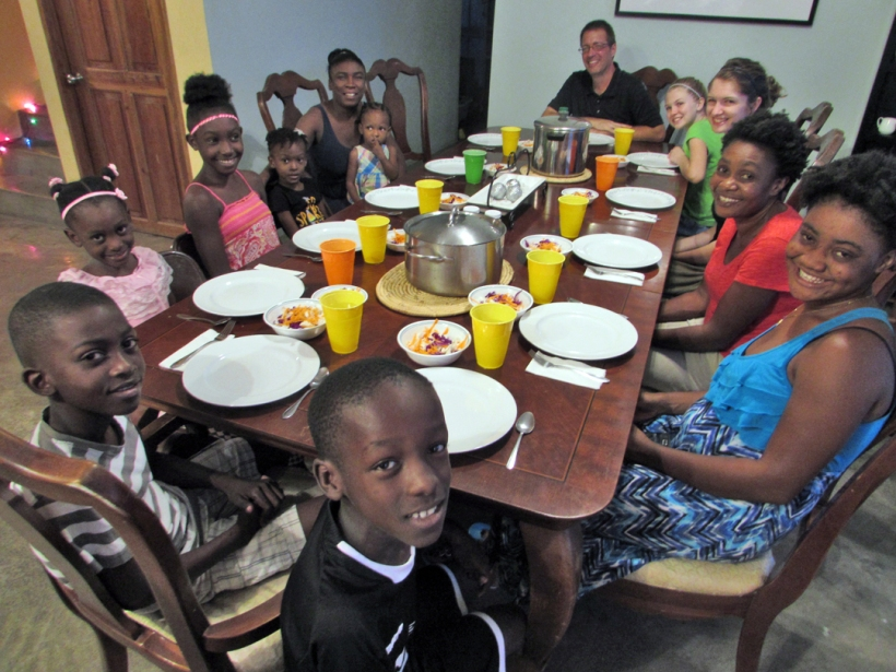 Our first Christmas dinner for our workers and their children!