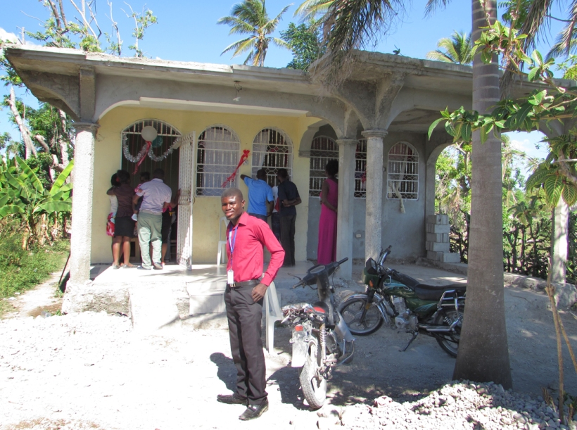 Arriving at the Christmas party for David Brown's weekly Bible school class. This is the house where he will live with 12 kids soon!