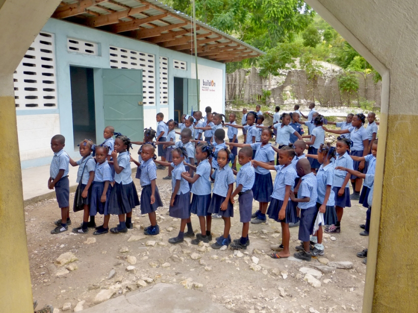 It is estimated only 25% of kids in Haiti get to attend school...mostly with help.