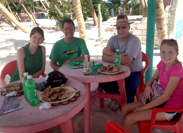 A dinner at the beach in Port Salut!